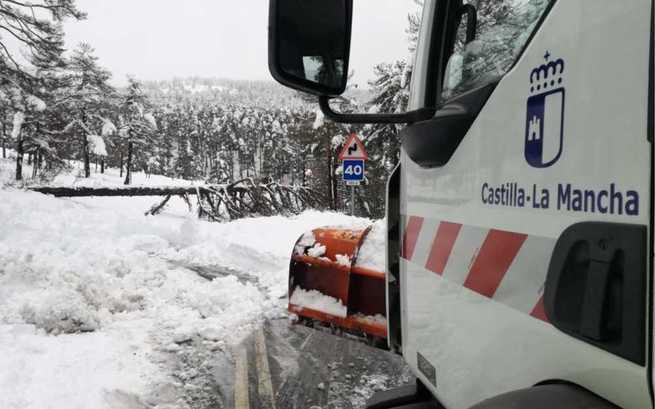 Mitma sigue trabajando activamente para hacer frente a las nevadas en Aragón, Castilla-La Mancha, Cataluña y Comunidad Valenciana