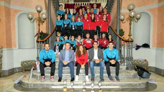 Cabañero recibe en la Diputación a los y las gimnastas albaceteños que deslumbraron a toda España desde Valladolid