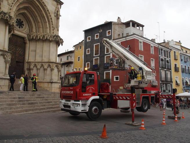 Imagen: Éxito del simulacro de incendio realizado en la Catedral con motivo de la exposición de Ai Wei Wei