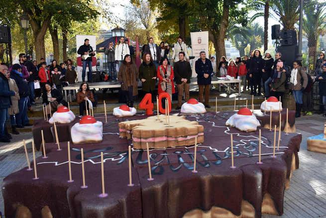 Los escolares de Ciudad Real celebran el  40 cumpleaños de la Constitución Española