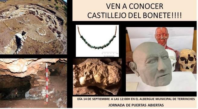 Jornada de puertas abiertas en Castillejo del Bonete (BIC), el 14 de septiembre en Terrinches, donde se conocerá un avance de Luciano, nuestro antepasado manchego