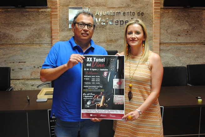 El XX Túnel del Vino de Valdepeñas se celebrará del 29 de agosto al 1 de septiembre