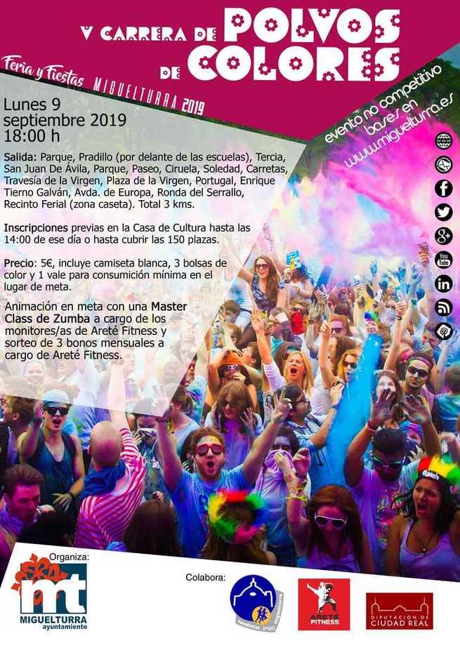 """La inscripción para la carrera de """"Polvos de Colores"""" de Miguelturra se realizará los días 5 y 6 de septiembre en la casa de cultura"""