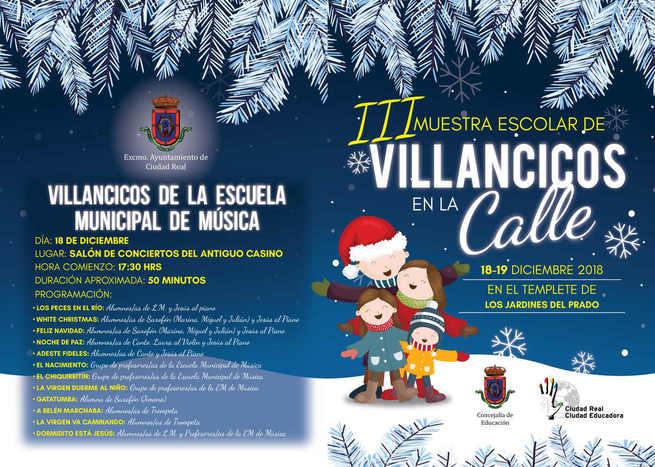 1.700 alumnos de Ciudad Real participan en la  III  Muestra Escolar de Villancicos en la Calle