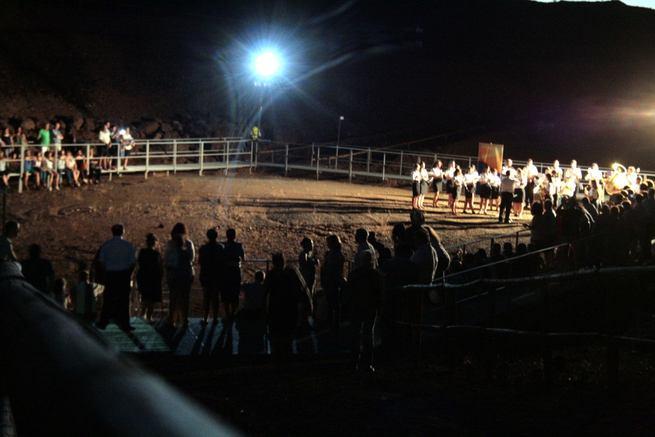 Cerca de 500 visitantes acudieron en la tarde-noche del sábado a las visitas guiadas y concierto en el Volcán de Cerro Gordo