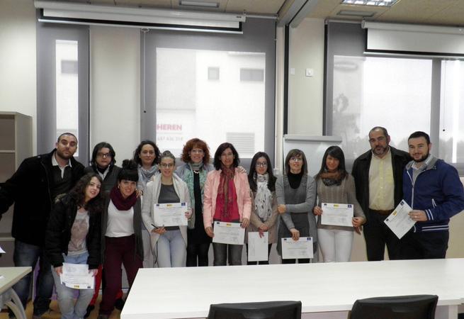 imagen de Entregados los diplomas de los cursos impartidos en el Centro de Formación de Herencia