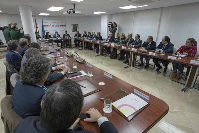 El nuevo Pleno de la Cámara de Comercio de Ciudad Real reelige a Mariano León como presidente