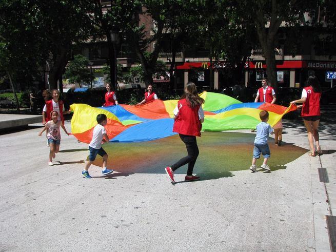 La Plaza Mayor de Ciudad Real acoge actividades de Cruz Roja Juventud este viernes