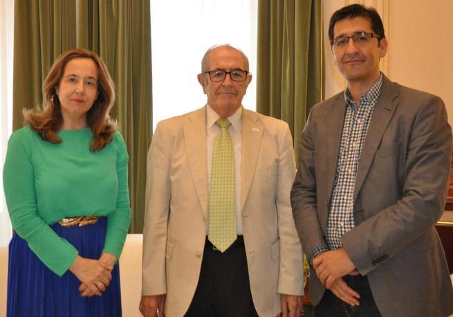 Imagen: Caballero ha recibido al nuevo presidente de la Asociación Contra el Cáncer