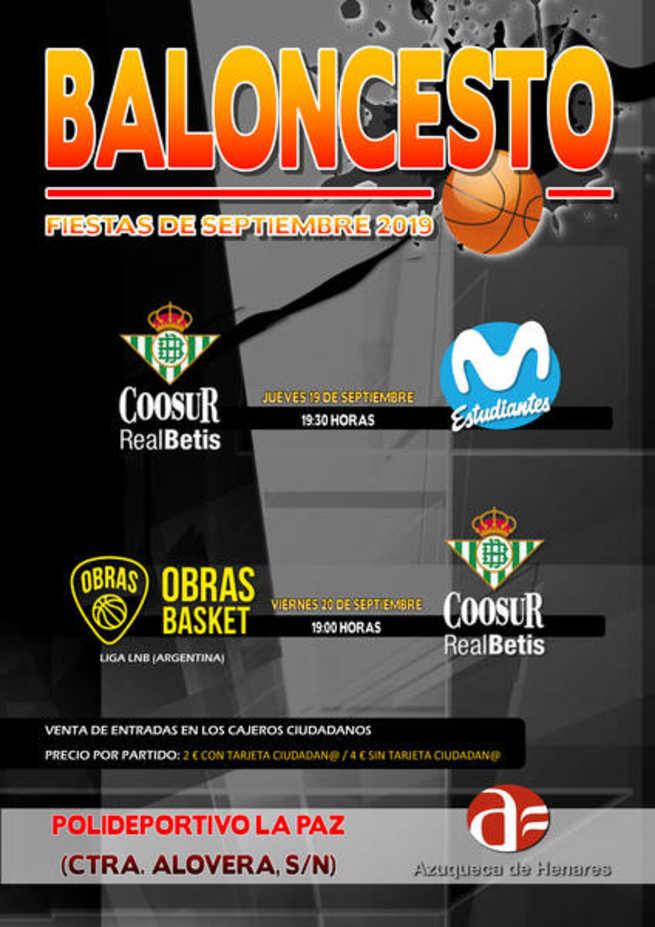 El polideportivo La Paz de Azuqueca de Henares acoge dos partidos de pretemporada del Coosur Real Betis, equipo ACB
