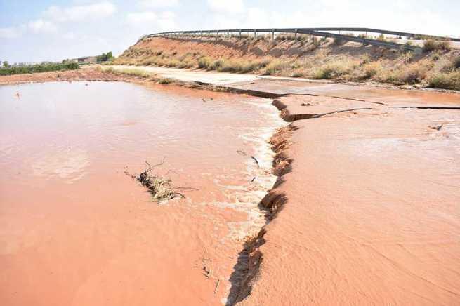 Las inundaciones provocadas por las tormentas afectan a varias zonas del término municipal de Socuéllamos