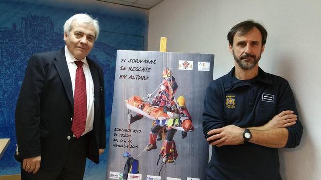Imagen: Bomberos de la ciudad hermanada de Agen y de otras provincias se dan cita en las XI Jornadas de Rescate en Altura en Toledo