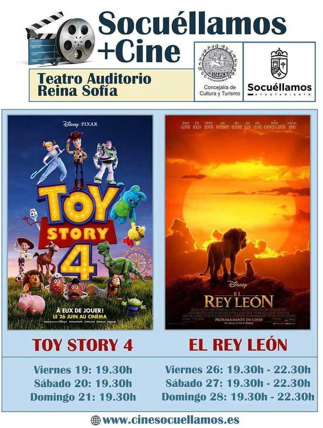 """""""ToyStory 4"""" y """"El Rey León"""" llegan al Teatro Auditorio Reina Sofía"""