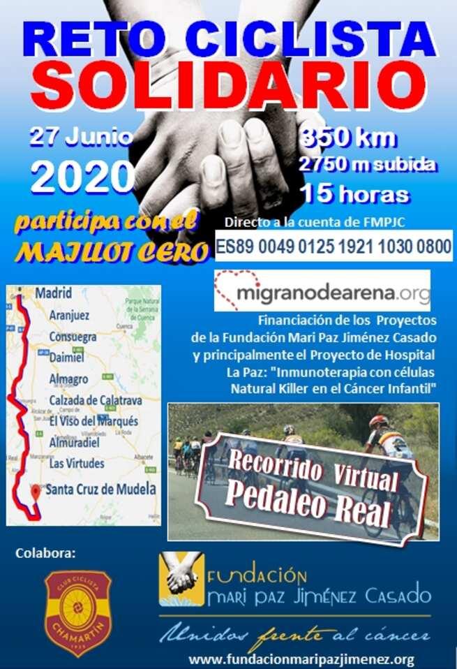 La Fundación Mari Paz Jiménez casado anima a Bolaños a participar en el reto ciclista solidario de 2020