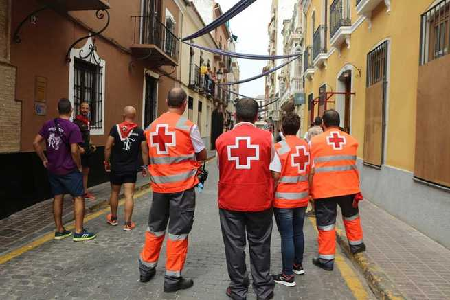 Tres personas atendidas por Cruz Roja Esàñola durante los encierros de Almodóvar del Campo