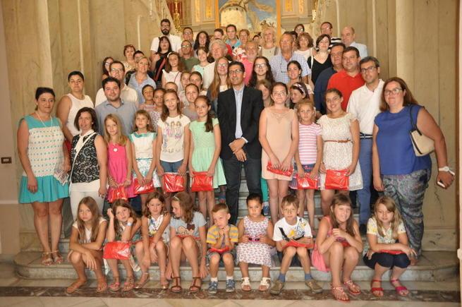 Imagen: Caballero destaca la concienciación social que producen los niños ucranianos y saharauis