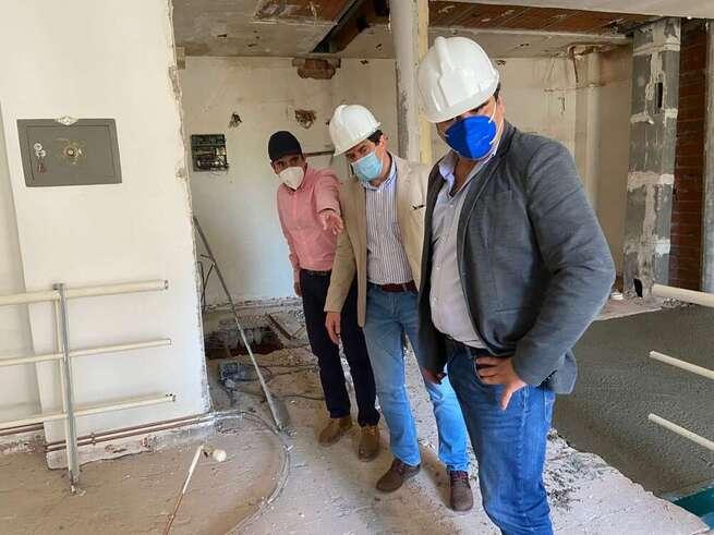 Avanzan a buen ritmo las obras de reforma del Ayuntamiento de Bolaños