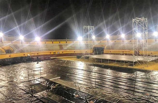 La tormenta de esta tarde en Almodóvar del Campo obliga a suspender el concierto de DVICIO previsto para hoy