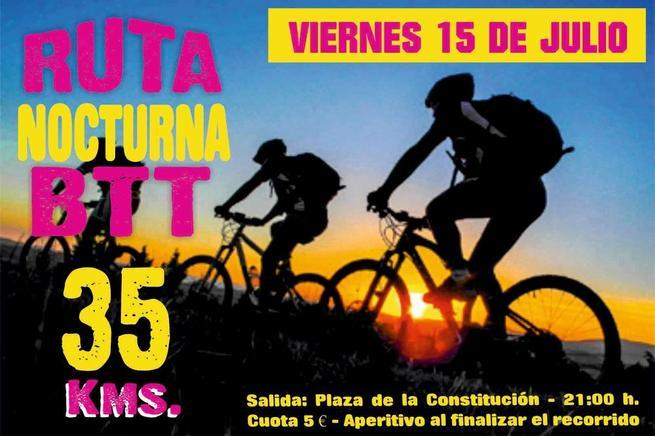 Imagen: Socuéllamos celebra este viernes la Ruta Nocturna de BTT, una carrera popular de 35 kilómetros