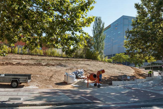 El Ayuntamiento de Guadalajara recupera un resto urbano situado en una de las entradas a Aguas Vivas