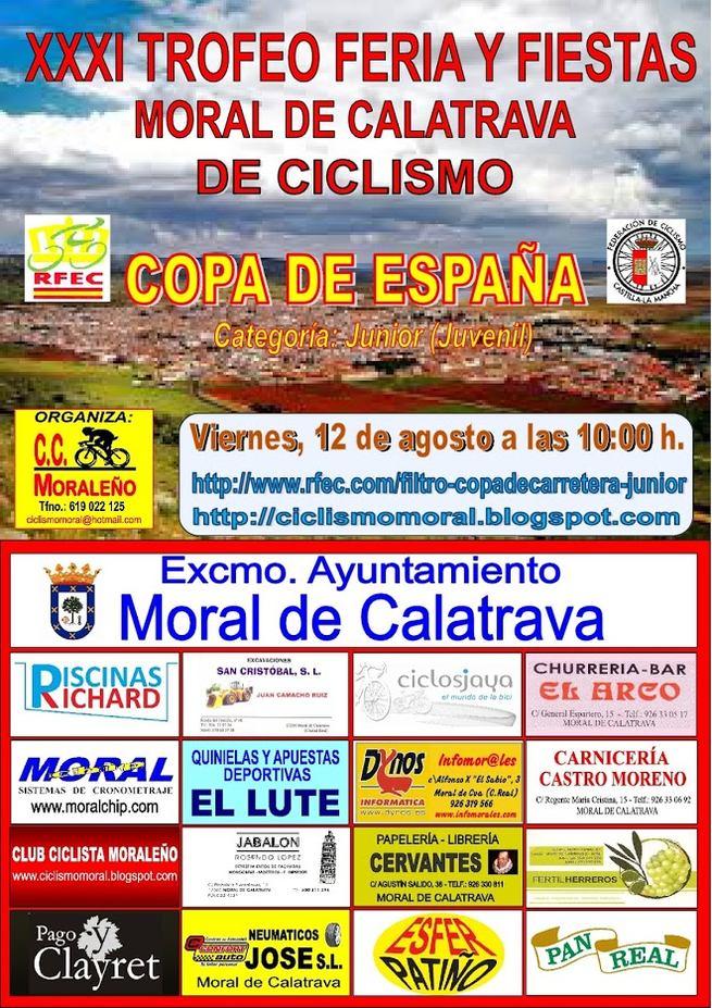 Moral de Calatrava sede de la final de la Copa de Carretera Junior de España