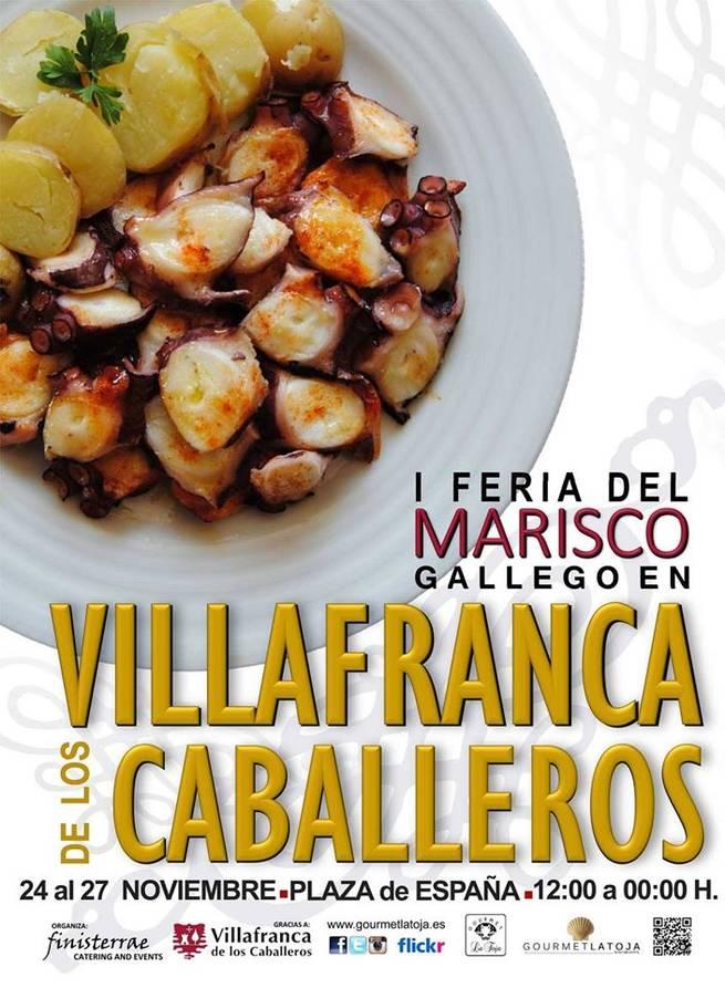 I Feria del Marisco Gallego en Villafranca de los Caballeros, del 24 al 27 de noviembre