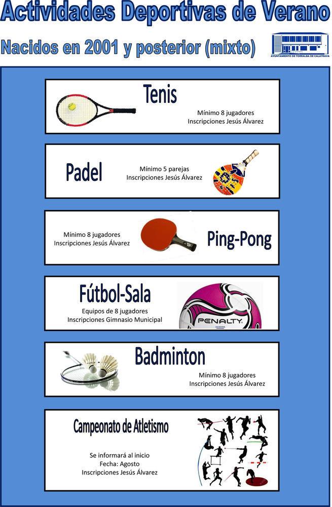 Imagen: Hasta 5 disciplinas deportivas, además de aerobic y zumba, para practicar este verano en Torralba de Calatrava