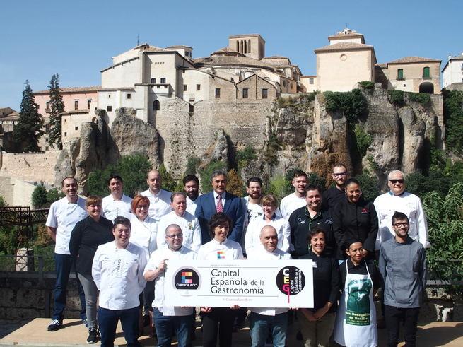 Más de una veintena de restauradores y cocineros conquenses firman su apoyo a la candidatura de Cuenca como 'Capital Española de la Gastronomía 2017'