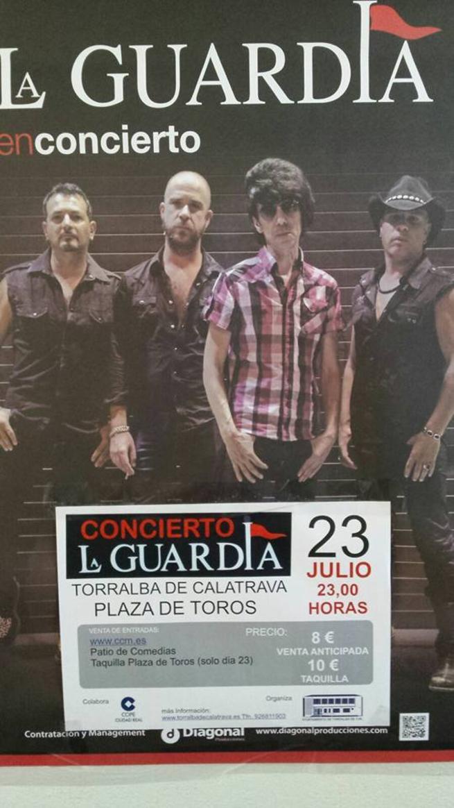 Imagen: Uno de los mejores grupos del rock de los 80, La Guardia,  en concierto, este sábado en Torralba de Calatrava