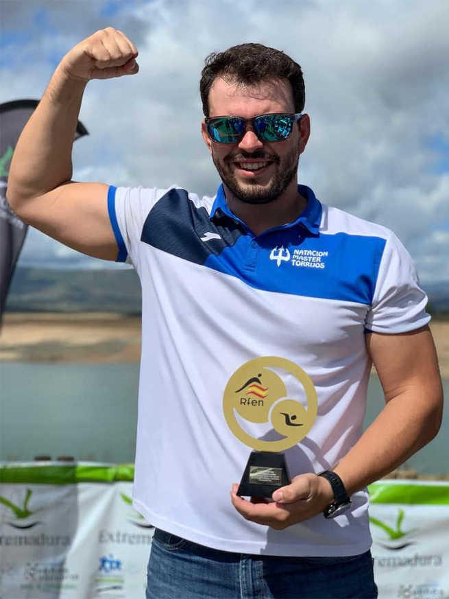 Juan Martín-Moyano Zamora gana la V Copa de España de Aguas Abiertas con el Club Natación Máster Torrijos