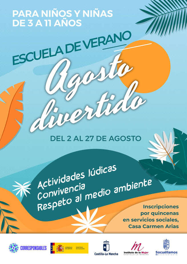 El Ayuntamiento propone un 'Agosto Divertido' a los niños y niñas de 3 a 11 años de Socuéllamos