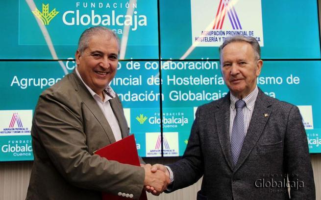 Imagen: La Fundación Globalcaja Cuenca renueva el convenio con la Agrupación de Hostelería