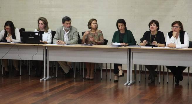 Imagen: Reyes Estévez informa al Consejo Escolar de las medidas puestas en marcha desde la Consejería para este inicio de curso