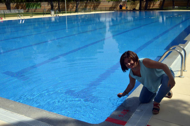 La piscina ol mpica del polideportivo rey juan carlos i for Piscina arganda del rey