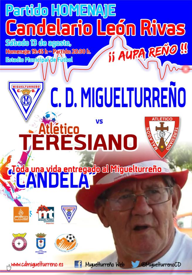 El CD Miguelturreño homenajeará a Candelario León Rivas, antes de su enfrentamiento contra el Atlético Teresiano, el próximo sábado