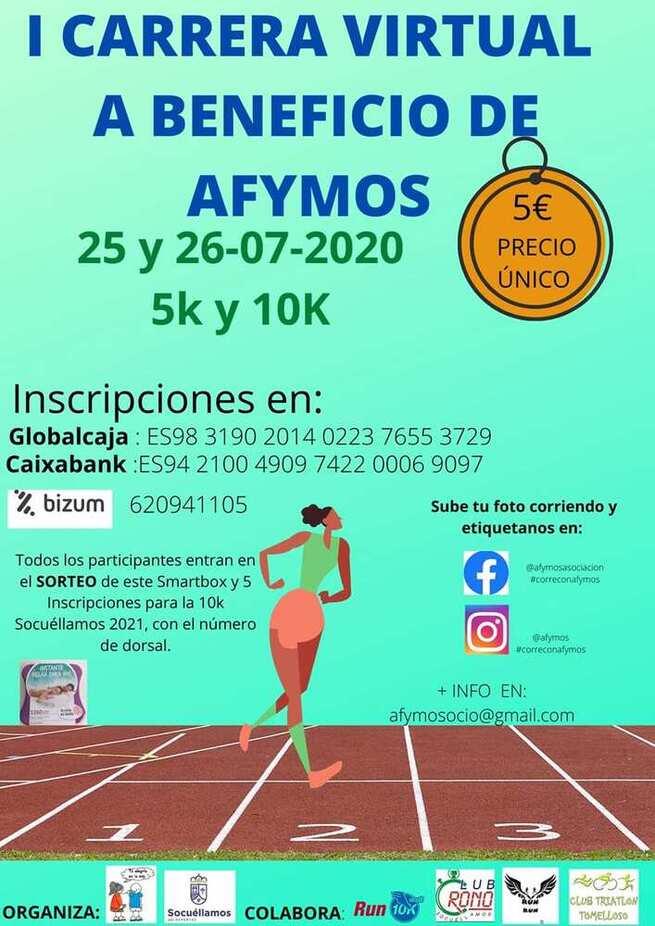 La Asociación Afymos organiza la I Carrera Virtual Solidaria en colaboración con el Ayuntamiento de Socuéllamos