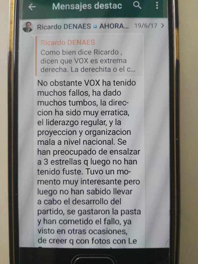 Agrupaciones municipales y votantes de VOX solicitan la dimisión de la comisión gestora provincial y de Ricardo Chamorro