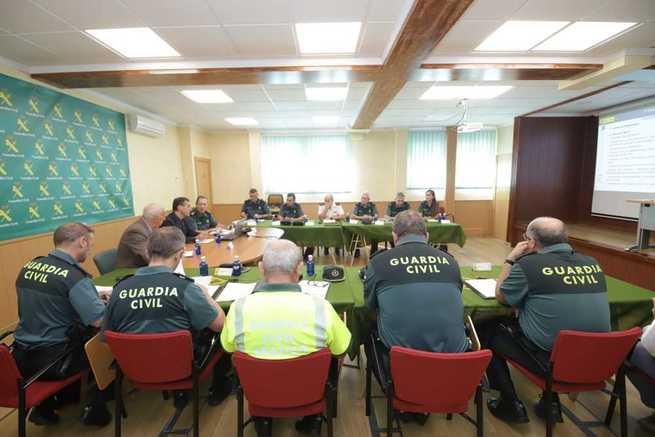 El delegado del Gobierno en Castilla-La Mancha, Francisco Tierraseca, preside la Junta de Coordinación de Zona de la Guardia Civil