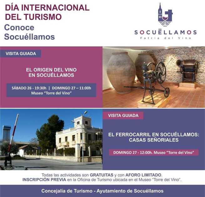 Socuéllamos se suma a la celebración del Día Internacional del Turismo con actividades durante el fin de semana