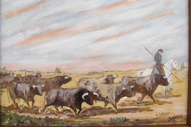 Imagen: Este viernes se inaugura en el centro de arte Carmen Arias la exposición 'el Toro en el campo y los corrales', de José Antonio Castellanos