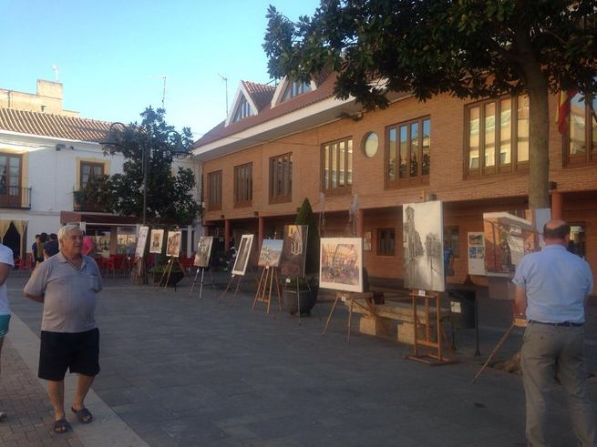Bolaños celebra su XX Certamen de Pintura Rápida 'Arte Jóven' de 2016 previo a la Feria y Fiestas en honor del Santísimo Cristo de la Columna