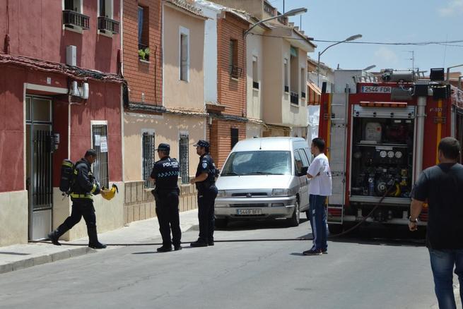 Imagen: Incendio en calle Santa María de Daimiel