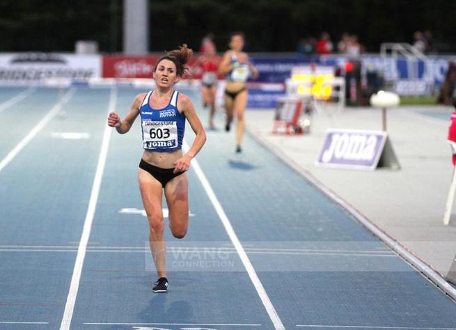 Imagen: Wang Connection. La atleta carrionera María José Pérez campeona de España de 3.000 metros obstáculos