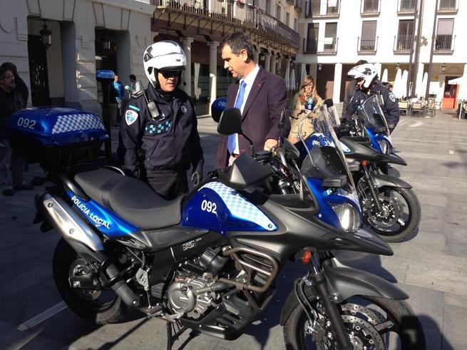 Imagen: La Policía Local de Guadalajara cuenta desde hoy con cuatro nuevas motos