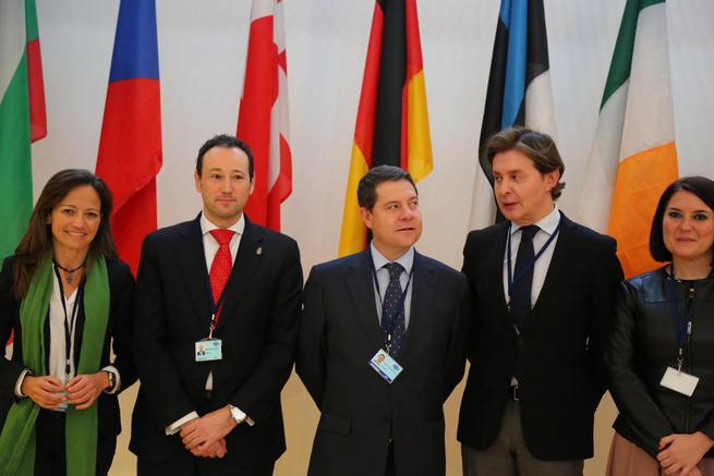 """Imagen: El presidente García-Page destaca el concepto de cohesión que propugna Europa """"tan bien utilizado por Castilla-La Mancha"""""""