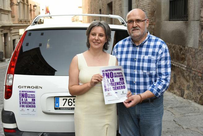 Más de 500 taxis de la región se unen a la campaña de sensibilización en contra de la violencia de género lanzada por el Instituto de la Mujer de Castilla-La Mancha