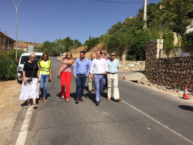 El Gobierno regional inicia las obras del acceso a Brihuega, en las que invertirá más de 300.000 euros
