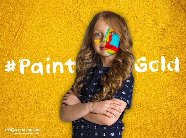 #PaintGold, una iniciativa a la que se sumaAFANION para apoyar a los menores que padecen cáncer infantil