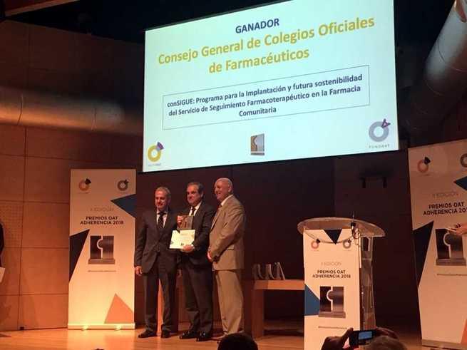 El programa conSIGUE, con gran implicación castellano-manchega, obtiene el premio a la mejor iniciativa en la categoría de Instituciones Farmacéuticas de los II Premios OAT Adherencia