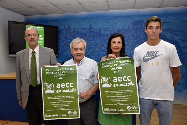 El Ayuntamiento de Toledo y la AECC en la I Carrera y Marcha Solidaria de la Asociación Española Contra el Cáncer que se celebra el domingo